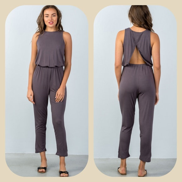 48db6f97b97f Back Cutout Jumpsuit
